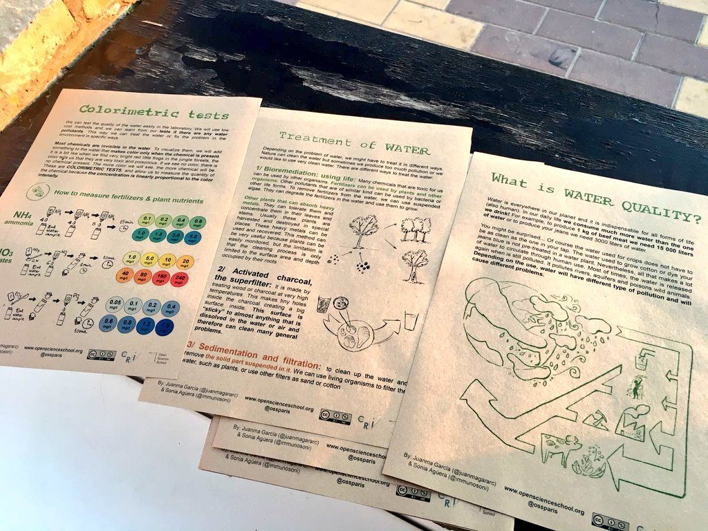 Detail of the printed protocols in 100% recycled paper. They look better in this format! :)